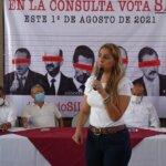 CONVOCA MARYBEL VILLEGAS A LOS HABITANTES DEL SUR DEL ESTADO A PARTICIPAR EN LA CONSULTA PARA ENJUICIAR A EX PRESIDENTES
