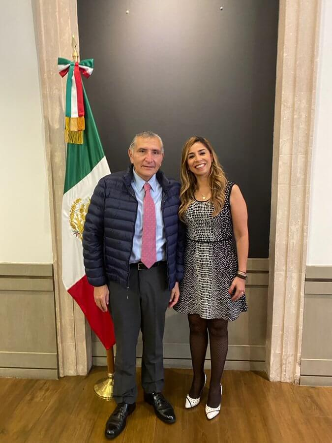 Marybel con Adán Augusto Sec d Gob