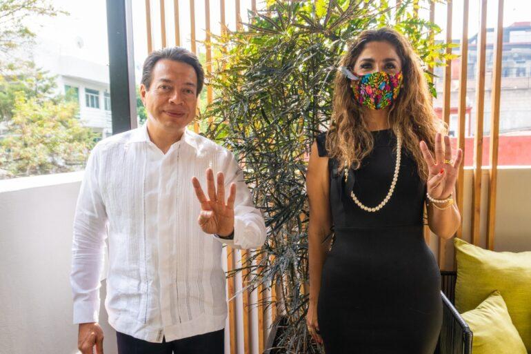 Senadora Marybel Villegas con Mario Delgado