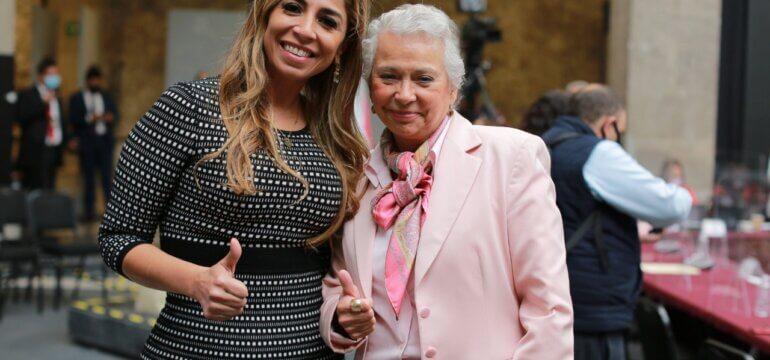 Marybel con Olga Sánchez