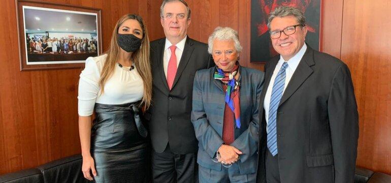 MVC en senado con Ebrard Olga y Monreal